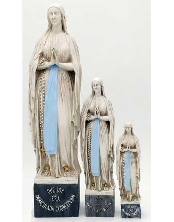 Our Lady of Lourdes statue...